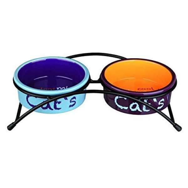 Trixie Keramik-Napf-Set Eat on Feet 2 × 0,3 l/ø 12 cm