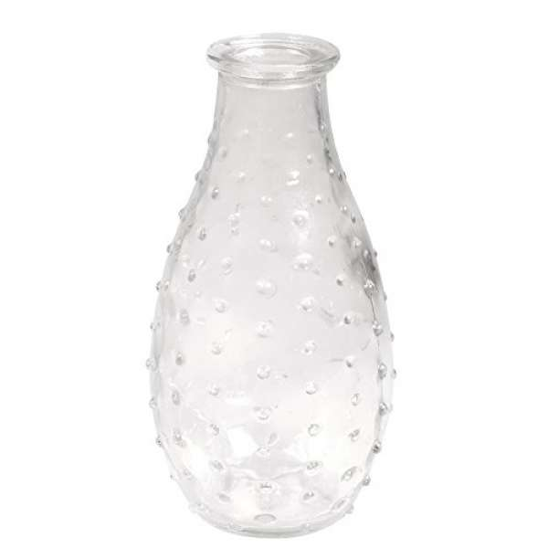 Glas Vase D07x14cm +Punkte