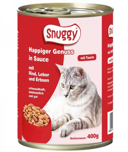 snuggy Katze Rind, Leber und Erbsen 400g
