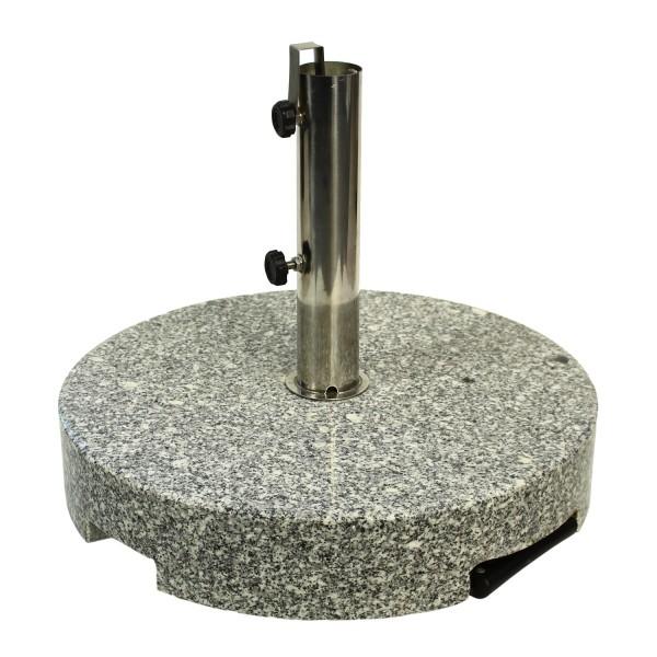 Schirmfuss 60kg Granit grau