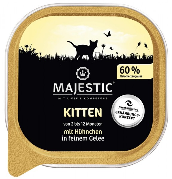 MAJESTIC Kitten - Hühnchen - 100g Schale
