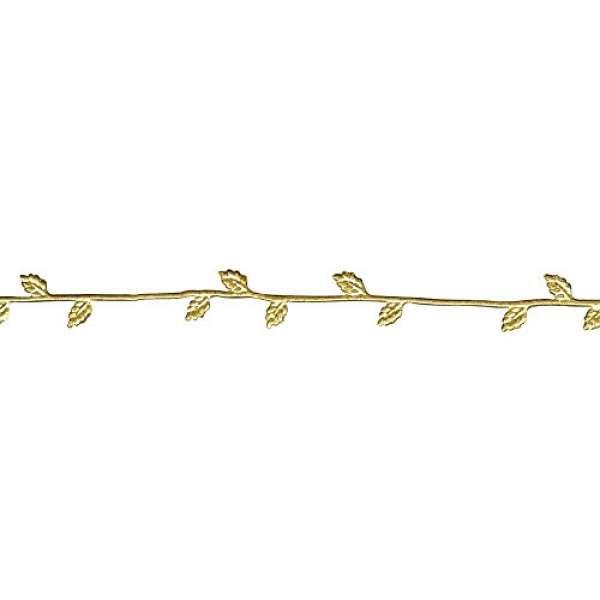Wachs Borte 21cm 2 St. gold