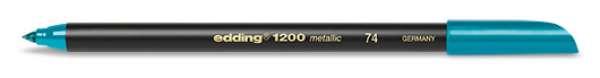 edding 1200 metallic colorpen - 074 Grün Metallic