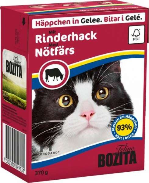 Bozita HiG Naßf 370g Cat Rinderhack