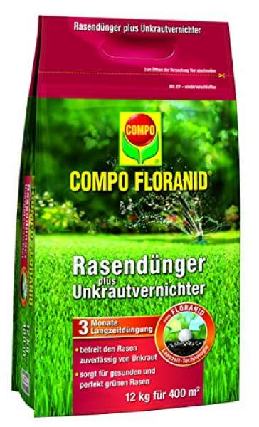 COMPO FLORANID Rasendünger plus Unkrautvernichter 12kg