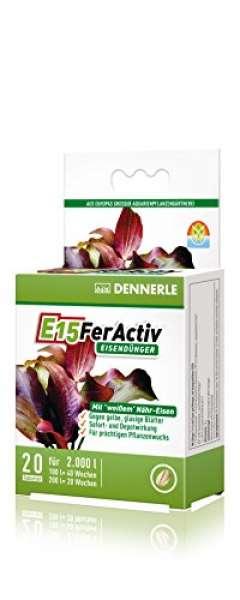 Dennerle 4469 E15 FerActiv Eisendünger für Aquarienpflanzen, 20 Stück