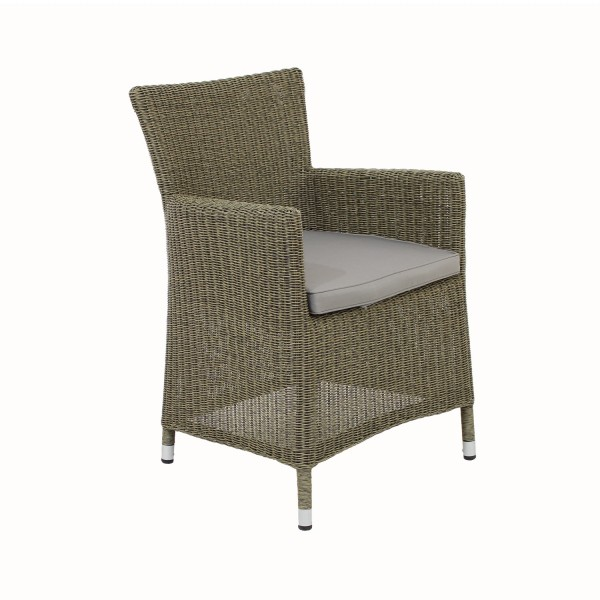 Sessel Mailand grey willow inkl.Kissen