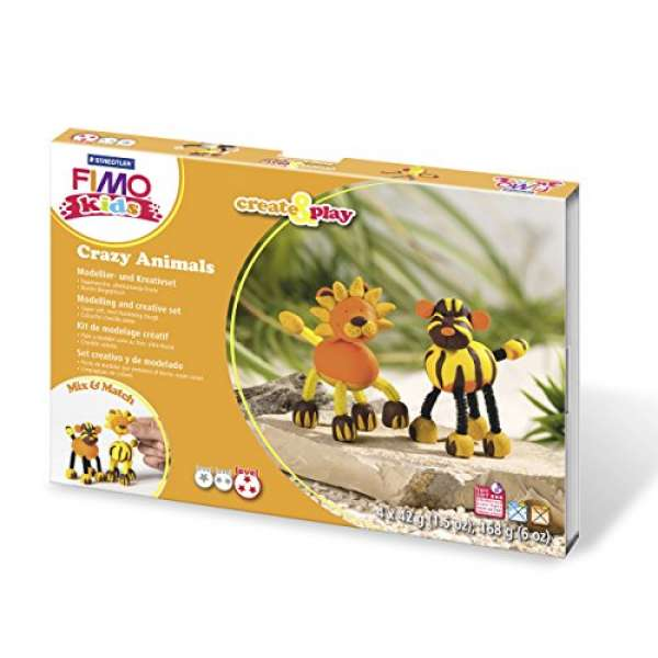 Fimo kids Create&Play Löwe&Tiger 4x42g