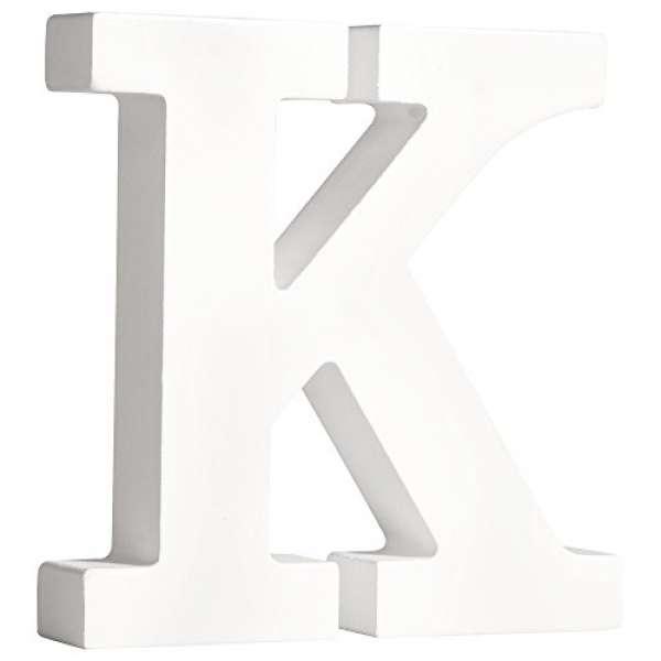 Buchstabe K weiß