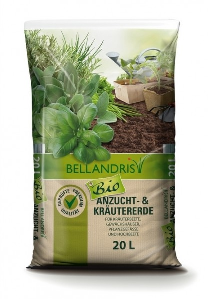 Bellandris Bio-Anzucht-& Kräutererde 20L