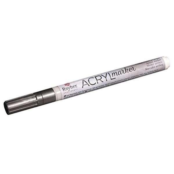 Acryl-Marker silber