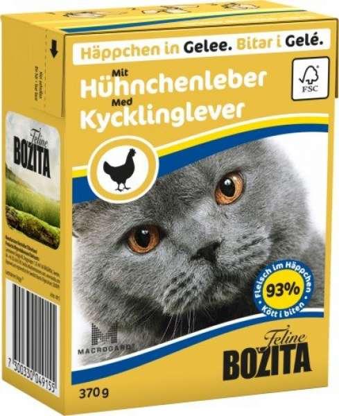Bozita Häppchen in Gelee mit Hühnchenleber 370g