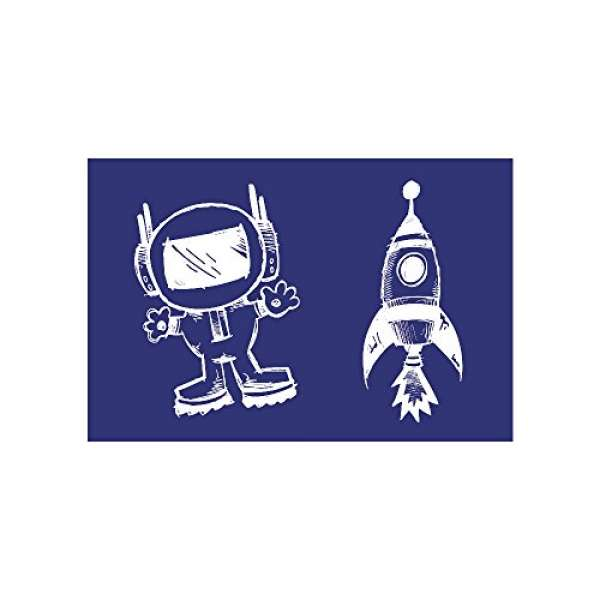 Schablone Astronaut + Rakete A5 + Rakel