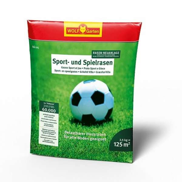 Sport +Spielrasen LG125 2,5kg 1St. WO
