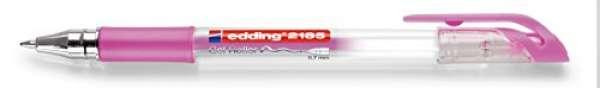 e-2185 Gel Roller pink-metallic