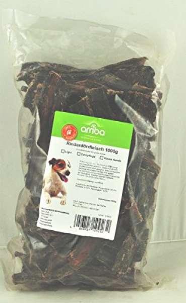 arriba Hundesnack 1kg Rinder-Dörrfleisch