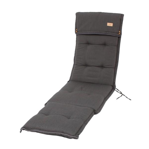 Deckchair Black Grey 190