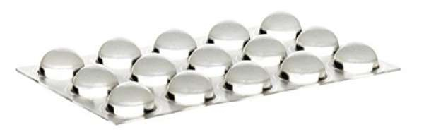 Home Xpert 15 Stück Schutzpuffer CLEAR Linse, Anschlagpuffer, Möbelpuffer, Anschlagdämpfer, transpar