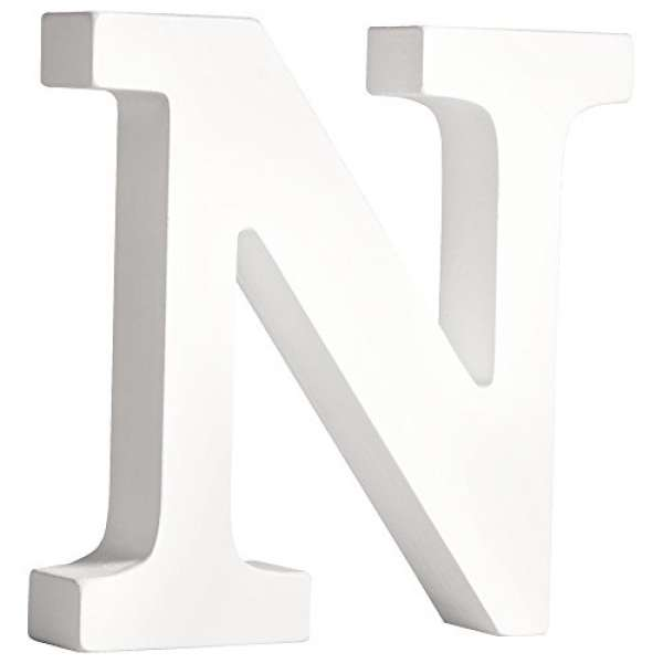 MDF Buchstabe N weiß 11cmx2cm