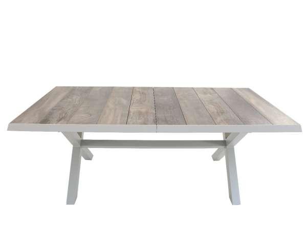 Tisch Melano grau 200/260x100cm