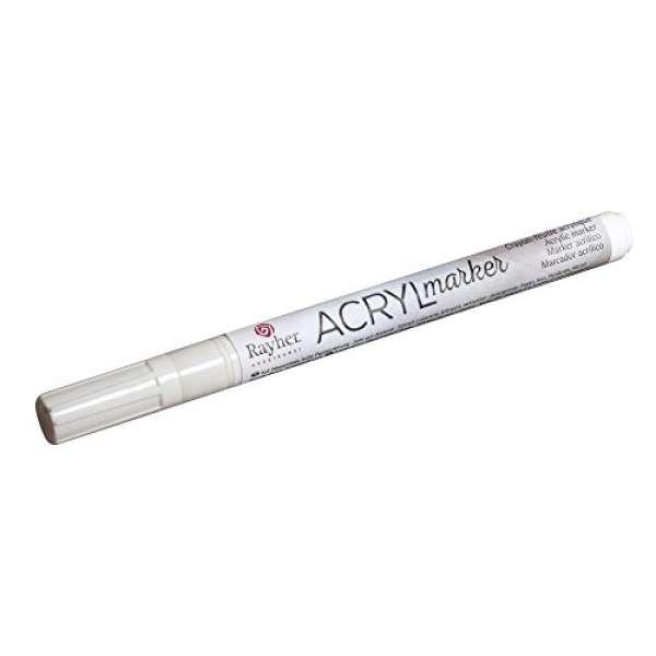 Acryl-Marker weiß 1-2 mm RS +V