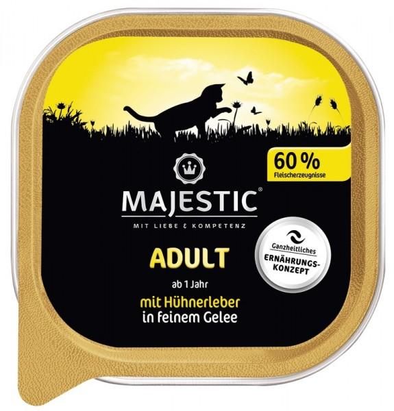 MAJESTIC Adult - Hühnerleber - 100g Schale