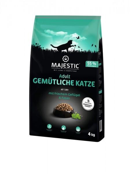 MAJESTIC GEMÜTLICHE KATZE - Geflügel & Fasan - 4kg