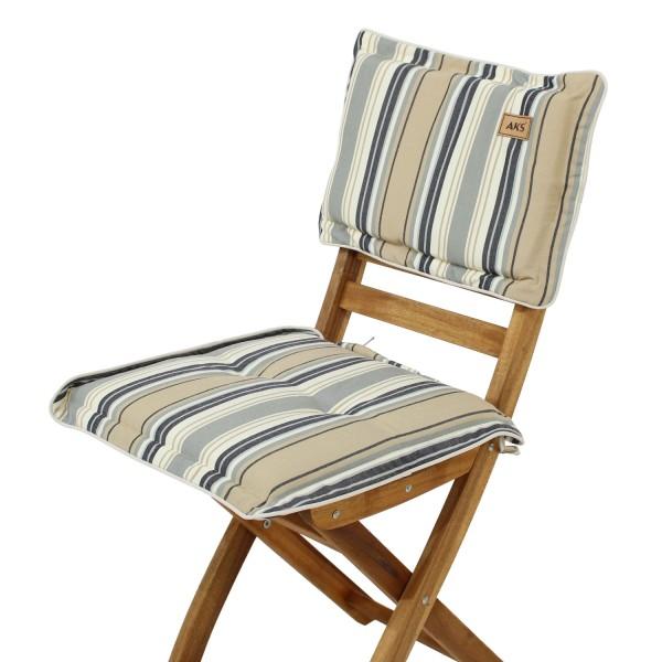 Sitz-Rückenkissen Metalic Stripe