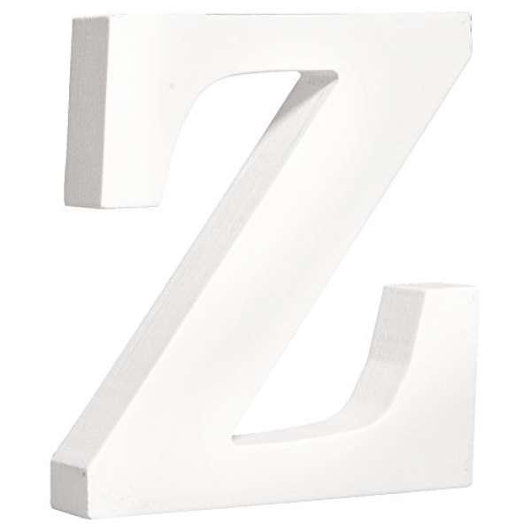 MDF Buchstabe Z weiß 11cmx2cm