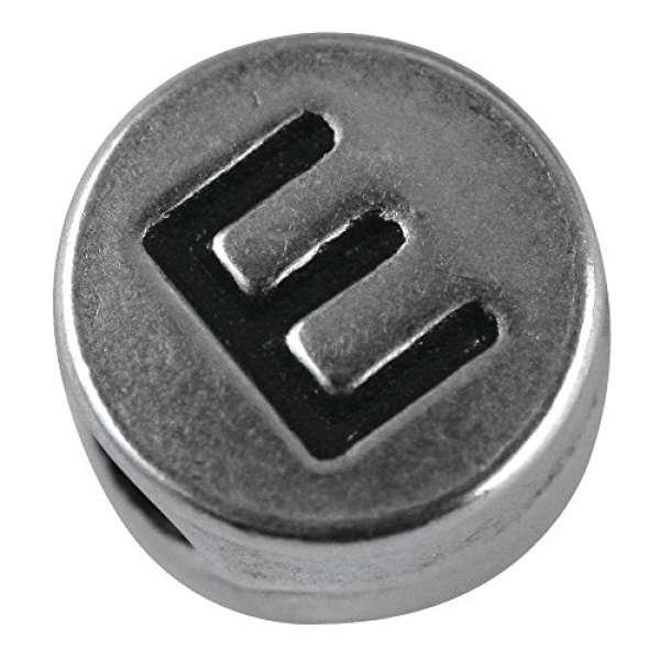 Metall Perle E D7mm Loch 2mm silber