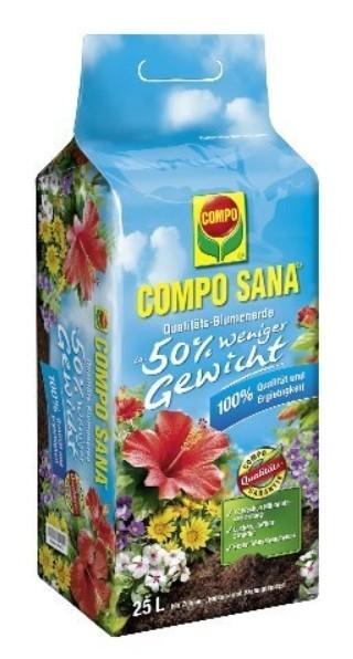 Compo Sana Qualitäts-Blumenerde 25L