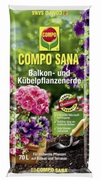 Compo Sana Balkon- und Kübelpflanzenerde 70L