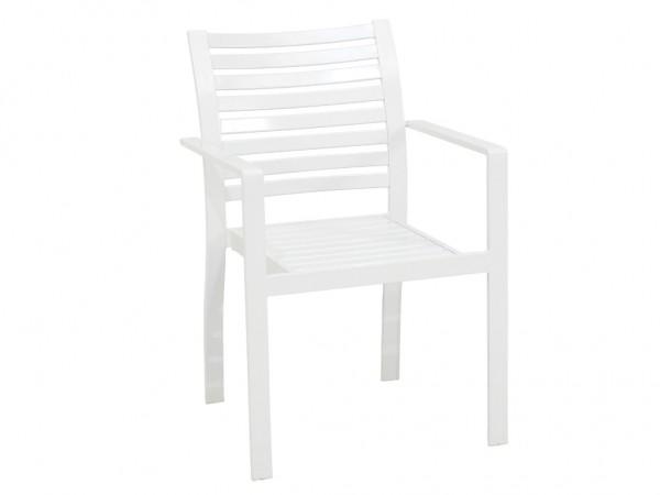 Stuhl Selina stapelbar Weiss