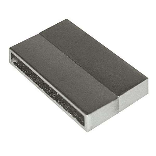 Magnetschließe glatt 2tlg. 33mm platin