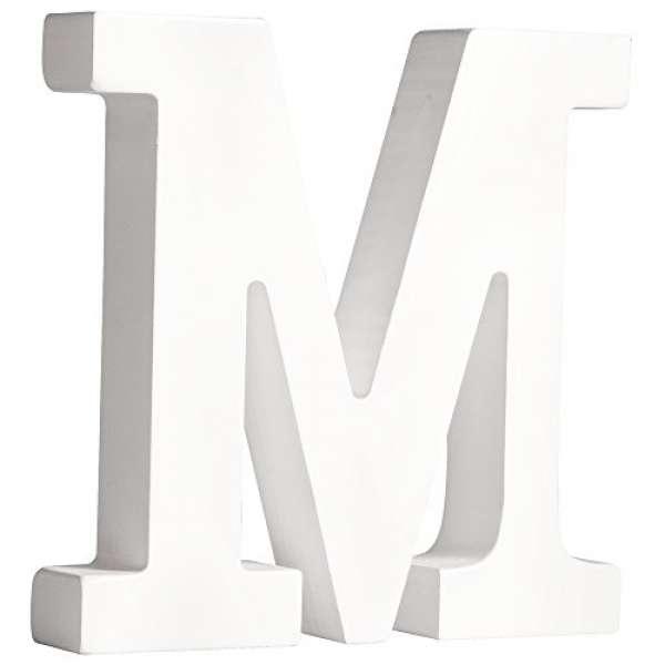 Buchstabe M weiß 11cmx2cm
