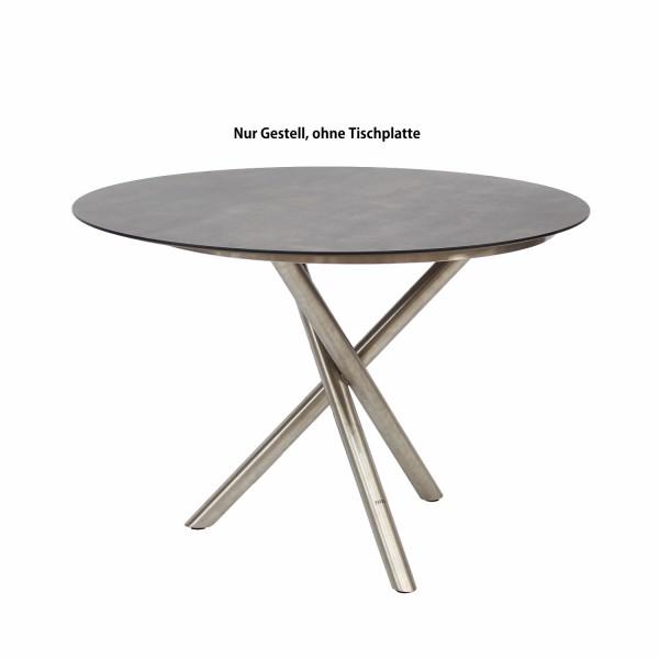 Tischgestell Mikado Edelstahl Rundrohr