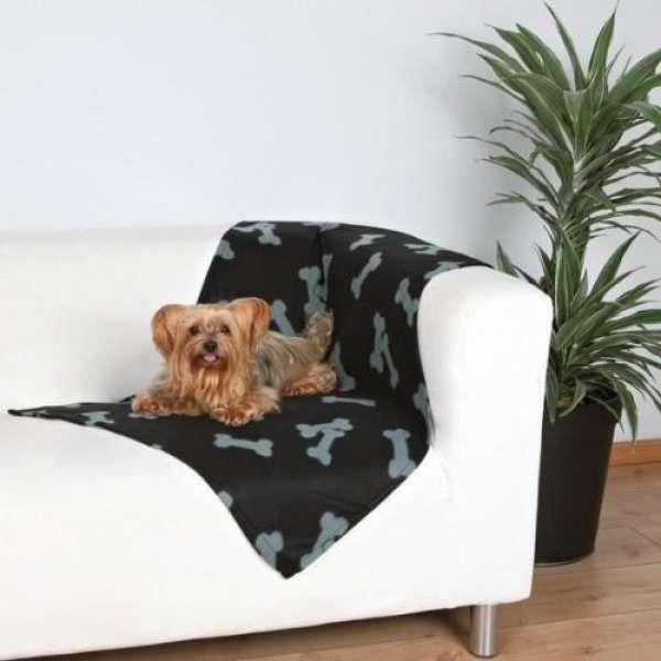 Trixie Fleecedecke Beany schwarz, 100 x 70 cm