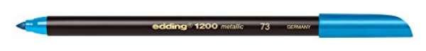 edding 1200 metallic colorpen - 073 Blau Metallic