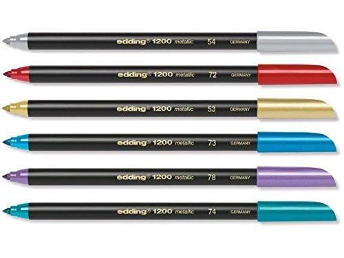 edding 1200-6 colorpen metallic 6er Set