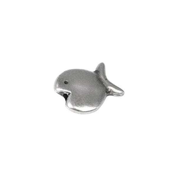 Metall-Zierelement Fisch, 14mm