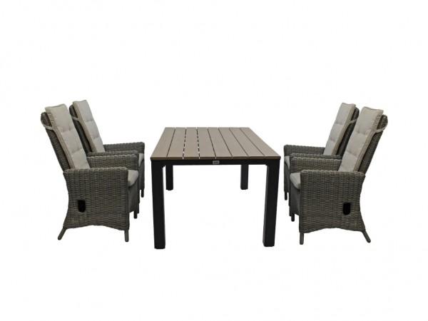 Set Sessel San Diego grey willow + Tisch Keitum
