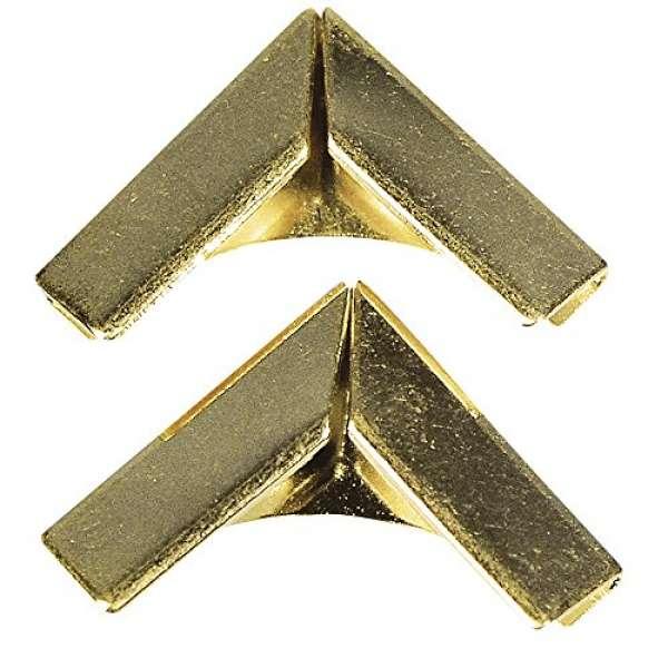 Metallecken für Bucheinbände 14x14mm
