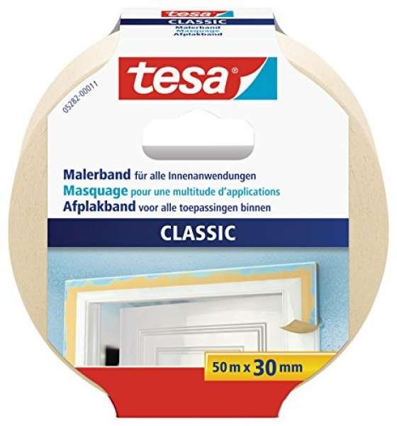 tesa Malerband CLASSIC für alle Standard Malerarbeiten, 50m x 30mm