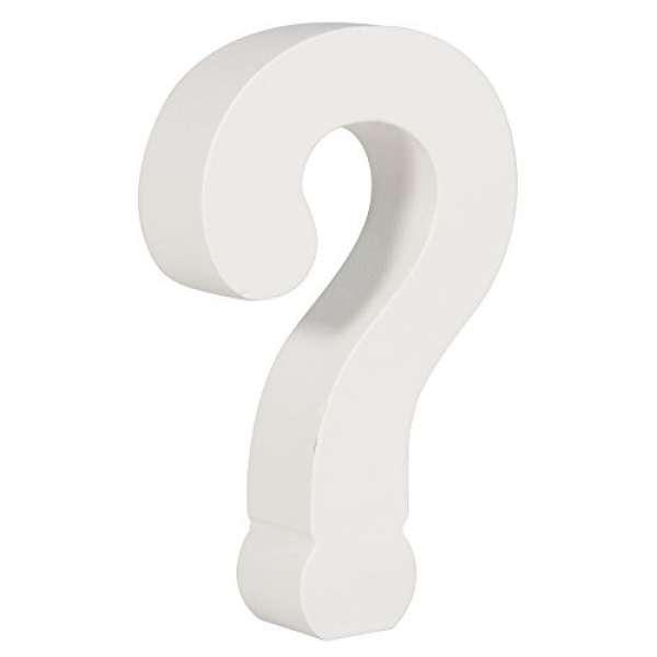 MDF- Symbol ? weiß 11cm Stärke 2cm