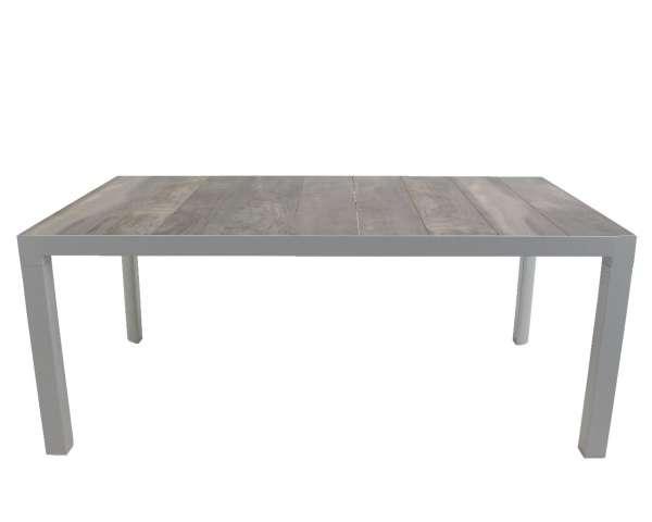 Tisch Milton weiß-grau 180x100cm