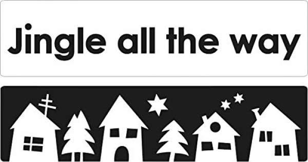 Labels Jingle all the way + Weihnachtsdorf 60x15mm