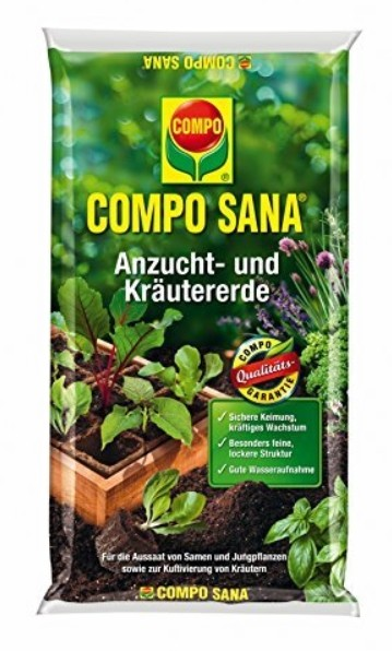 Compo Sana Anzucht und Kräutererde 10L