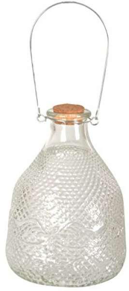 Esschert Design Vintage Wespenfalle mit Glas Größe L, mit Drahtgriff