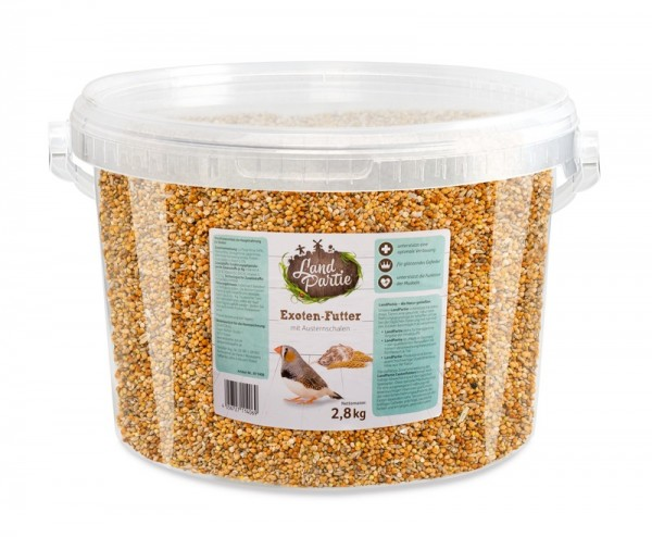 LandPartie 2,8kg Exotenfutter Eimer 4,2l