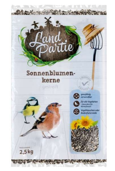 LandPartie gestreifte Sonnenblumenkerne 2,5kg